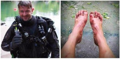 Rescate angustioso en Thailandia